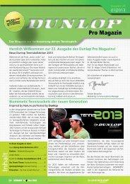 Zum Download: Unser neues Promagazin 01/2013... - Dunlop