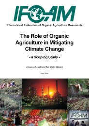 The Role of Organic Agriculture in Mitigating Climate Change - ifoam