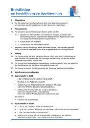 Richtlinien zur Durchführung der Sportlerehrung - Hardheim