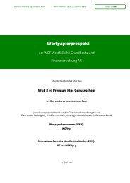 WGF Westfälische Grundbesitz und ... - Börse Stuttgart