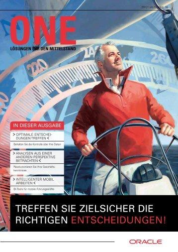 TREffEN SIE zIElSIchER DIE RIchTIGEN ENTSchEIDUNGEN! - Oracle