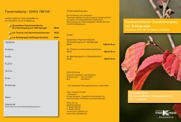 Psychosomatische Grundversorgung incl. Balintgruppe - Röher ...