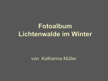 Fotoalbum LIchtenwalde