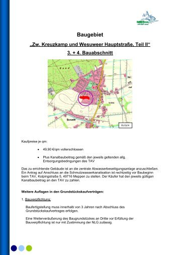Expose 3. und 4. Bauabschnitt - Stadt Haren