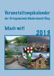 Veranstaltungskalender 2013 (PDF-Datei) - Verbandsgemeinde ...