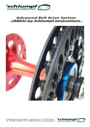 Advanced Belt Drive System (ABDS) - ueber Schlumpf Innovations
