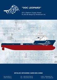 """OOC LEOPARD"""" - Opielok Reederei GmbH"""