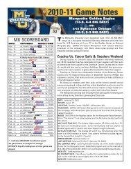 2010-11 MU MBB Game Notes - Syracuse:2006-07 ... - Community