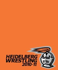 Wrestling Media Guide - Heidelberg University