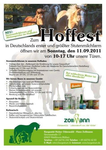 Flyer Hoffest 2011 - Stutenmilch Blog