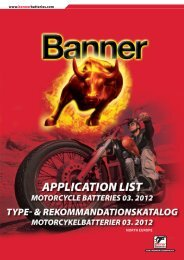 www.bannerbatteries.com NORTH EUROPE