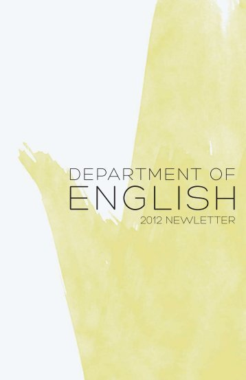 Department of english - California State University, Long Beach
