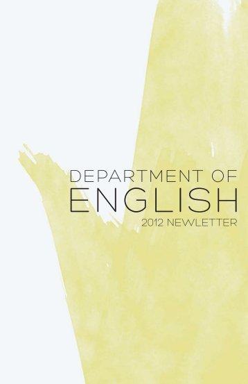 Department of english - California State University, Long Beach