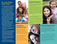 Mental Health Fund Children's Services Fund Special Projects St ...