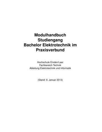Modulhandbuch Studiengang Bachelor Elektrotechnik im ...