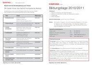 Bildungstage 2010/2011 - Caritas Luzern