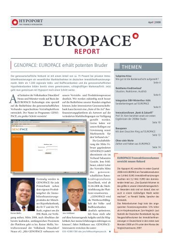 GENOPACE: EUROPACE erhält potenten Bruder ... - Hypoport AG