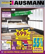 SSV-ANGEBOT! Jetzt zugreifen - Möbel Hausmann