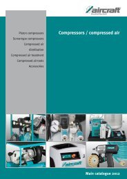 Compressors / compressed air - Aircraft