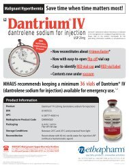 dantrolene sodium for injection - Dantrium IV