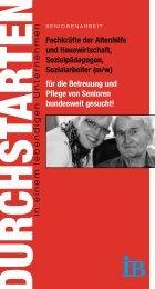 (m/w) für die Betreuung und Pflege von Senior - Internationaler Bund