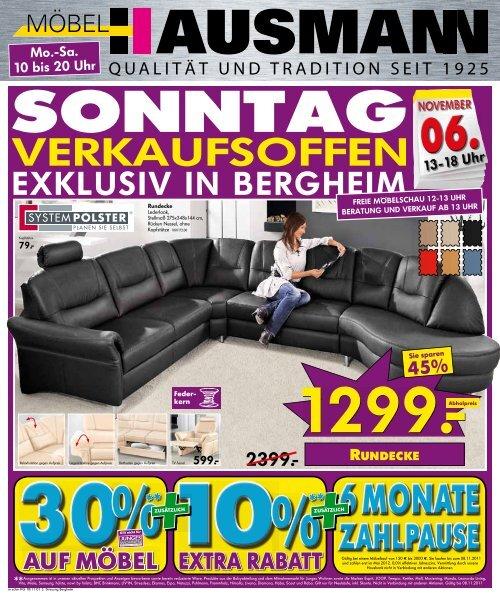 Verkaufsoffen Möbel Hausmann