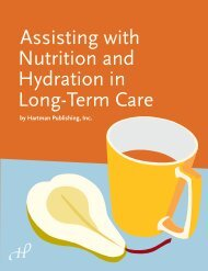 Assisting With Nutrition And Hydration In - Hartman Publishing, Inc.