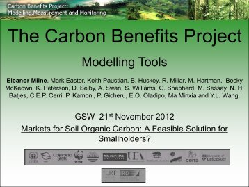 The Carbon Benefits Project - Global Soil Week
