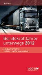 Berufskraftfahrer unterwegs 2012 - Verlag Heinrich Vogel