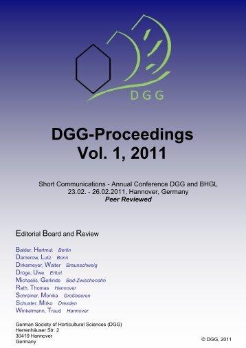Schreiner Hannover dgg proceedings vol 2 2012