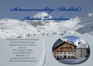 kurzer Skitourenfolder - Matreier Tauernhaus