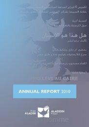 ANNUAL REPORT 2010 The Aladdin Project ... - Projet ALADIN