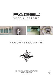 PRODUKTPROGRAM - Pagel Spezial-Beton GmbH & Co. KG