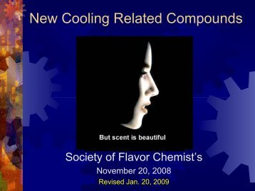 New Cooling Related Compounds