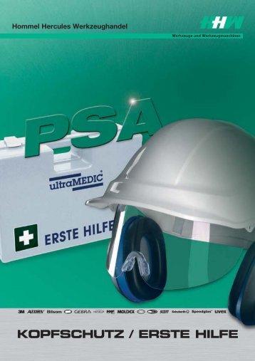 KOPFSCHUTZ / ERSTE HILFE - Hommel Hercules Werkzeughandel