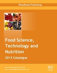 Food Science, Technology and Nutrition - Woodhead Publishing