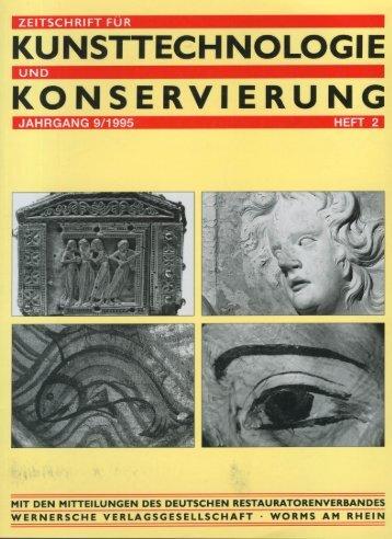 Kunsttechnologie Konservierung – flüchtige ... - HANGLEITER