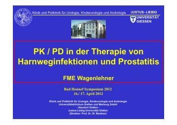 PK/PD in der Therapie von Harnweginfektionen und - PEG-Symposien