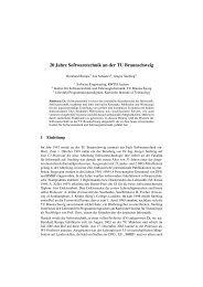 20 Jahre Softwaretechnik an der TU Braunschweig - SE@RWTH