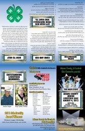 2011 Scholarship Award Winners - the Adams County Jr Livestock ...