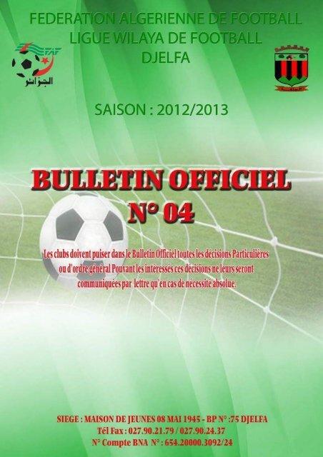 fevrier 2013 - Ligue de wilaya de football