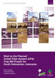Brief on the Planned United Fiber System (UFS) pulp mill ... - CIFOR