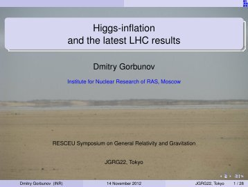 Higgs-inflation and the latest LHC results - RESCEU