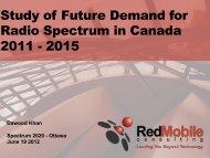 Analyzing Spectrum Demand - RedMobile