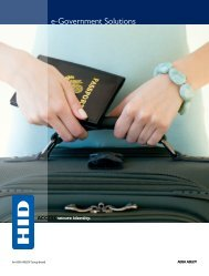 Government ID Solutions - HID Global