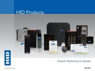 HID Products Quick Reference Guide - HID Global