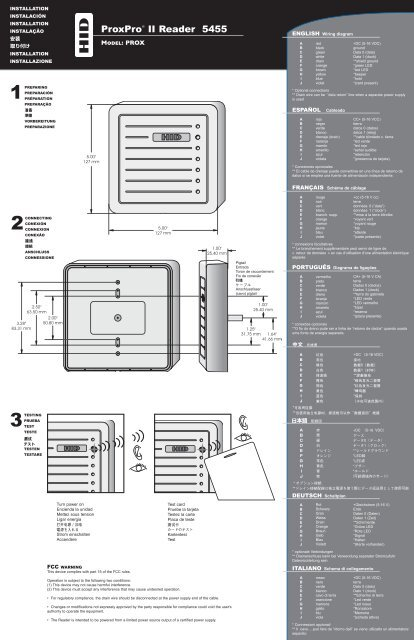 ProxPro II Reader 5455 Installation Guide - HID Global | Proxpro Hid Wiring Diagram |  | www.yumpu.com