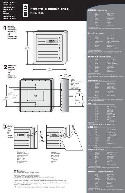 proxpro ii reader 5455 installation guide - hid global  yumpu