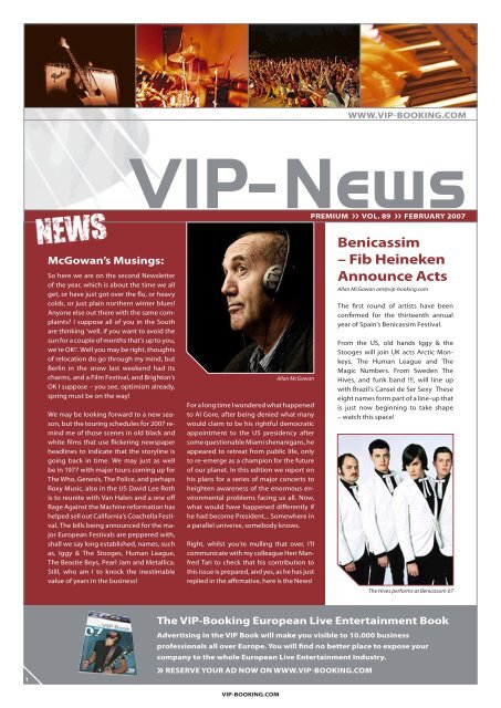 VIP newsletter February07.indd - VIP-Booking