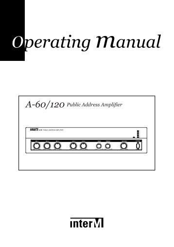 A-60/120 Public Address Amplifier